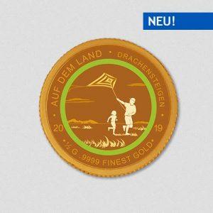 Auf dem Land - Drachensteigen - Goldmünze - Numiversal