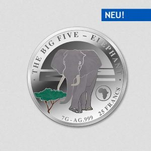 Big Five - Elephant - Silbermünze - Numiversal