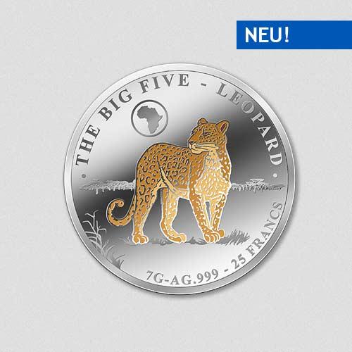 Big Five - Leopard - Silbermünze - Numiversal