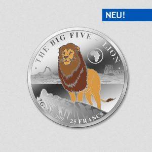 Big Five - Lion - Silbermünze - Numiversal