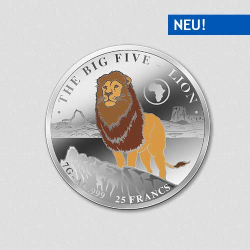Big Five - Lion - Silbermünze - Numiversal