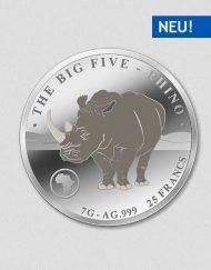 Big Five - Rhino - Silbermünze - Numiversal