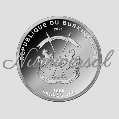 Burkina Faso Silber 2021 1000 Francs