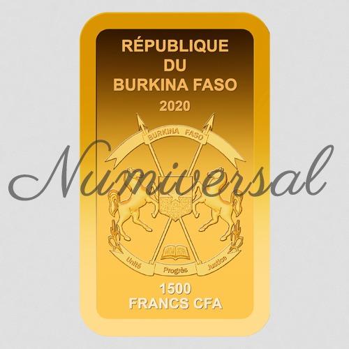 Burkina faso goldbarren 2020