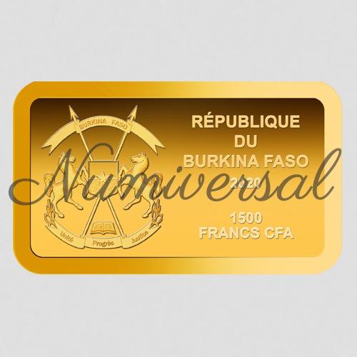 Burkina faso goldbarren 2020 quer