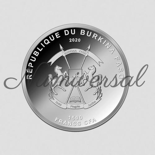 Burkina faso silber 2020
