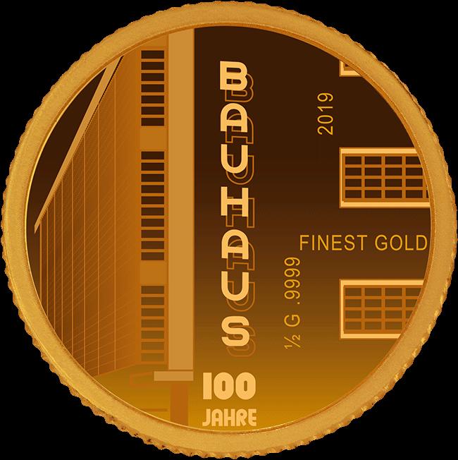100 Jahre Bauhaus - Goldmünze - Numiversal