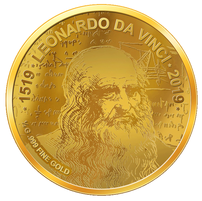 Leonardo Da Vinci - Goldmünze - Numiversal