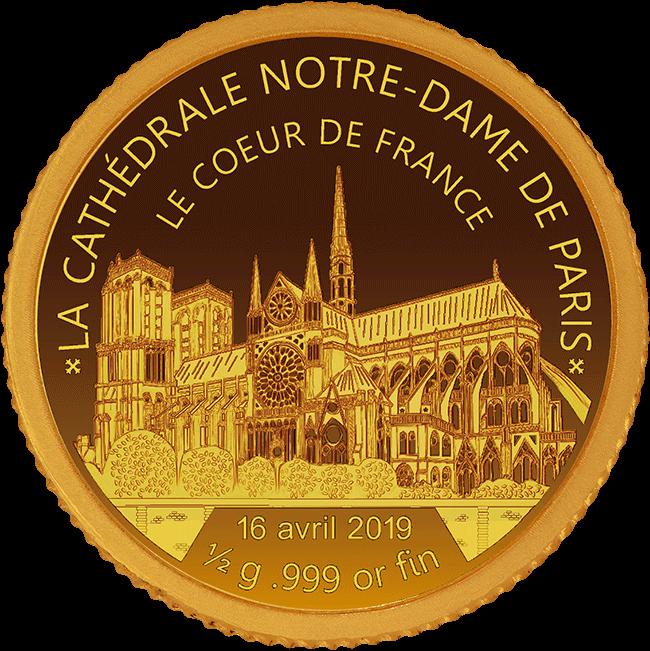 Notre Dame - Coeur de France - Goldmünze - Numiversal