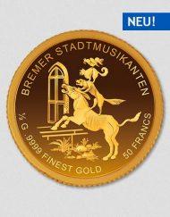 Bremer Stadtmusikanten - Goldmünze - Numiversal