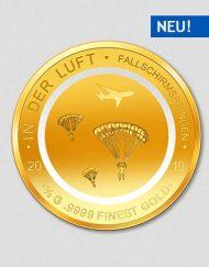 In der Luft - Fallschirmspringen - Goldmünze - 2019