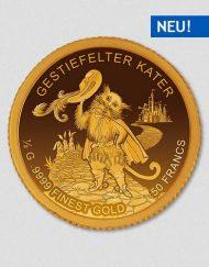 Der gestiefelter Kater - Goldmünze - Numiversal