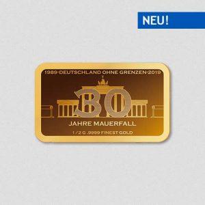30 Jahre Mauerfall - Goldbarren - Numiversal
