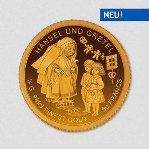 Hänsel und Gretel - Goldmünze - Numiversal