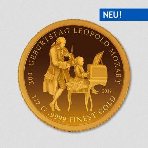 Leopold Mozart - Goldmünze - Numiversal