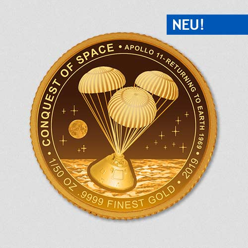 Conquest of Space - Apollo Rückflug - Goldmuenze - Numiversal