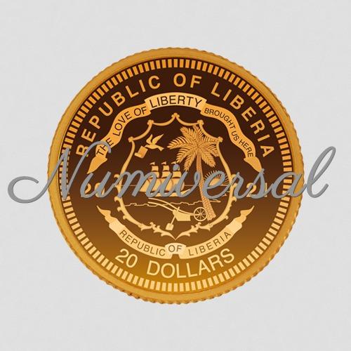 Liberia_Gold_Münze_20_Dollar 2021