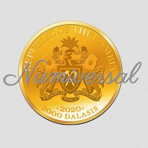 Gambia Wappenseite 2000 Dalasis