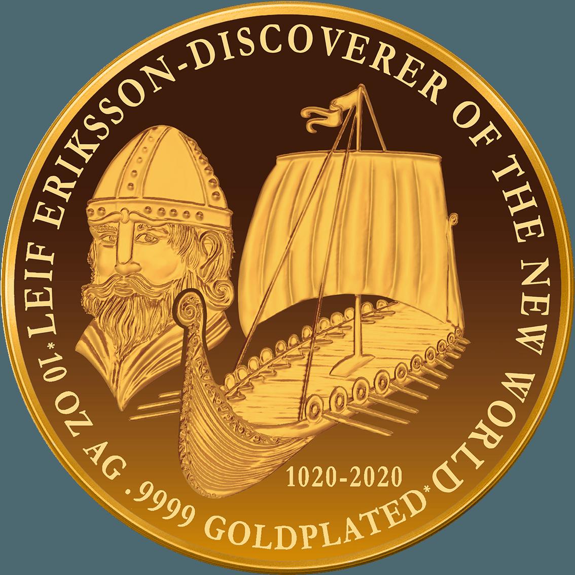 Leif-Eriksson_10 OZ AG 9999 Goldplate 65 mm