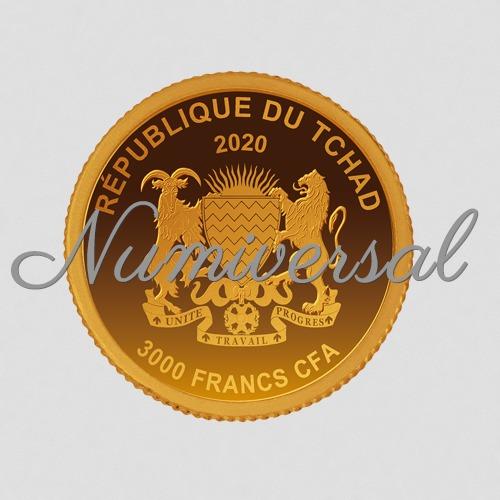 Tchad 2020 oval gold