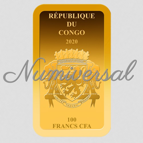 Congo Goldbarren 100 Francs CFA